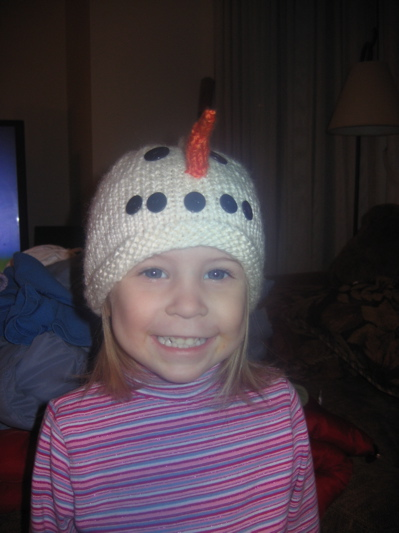 New Pattern Childs Snowman Hat Insanknitty
